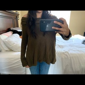 Olive green Free People sweater